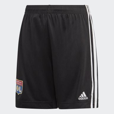 Děti Fotbal černá Venkovní šortky Olympique Lyonnais