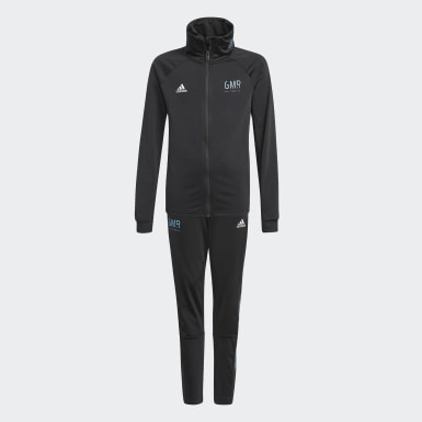 Boys Training Black Gaming Football-Inspired Track Suit