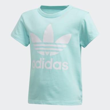Børn Originals Blå Trefoil T-shirt