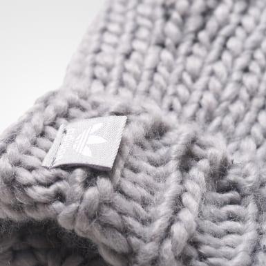 серый Комплект: варежки и шарф