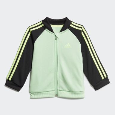 Børn Athletics Grøn 3-Stripes Tricot træningsdragt