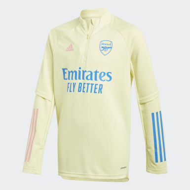 Youth 8-16 Years Football Yellow Arsenal Training Top