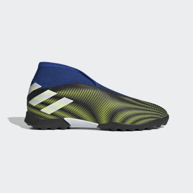 Boys Football Black Nemeziz.3 Laceless Turf Boots