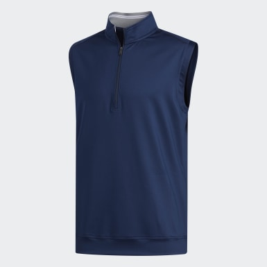 Gilet sans manches Classic Club 1/4 Zip bleu Hommes Golf