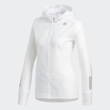 Women Running White Own the Run Jacket