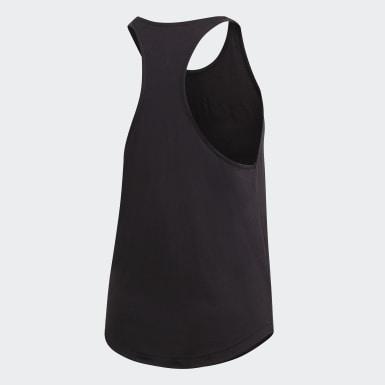 ผู้หญิง ไลฟ์สไตล์ สีดำ เสื้อกล้าม Essentials Linear