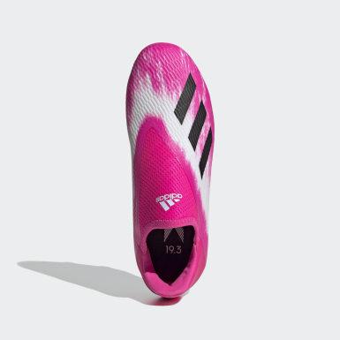 Chaussure X 19.3 Terrain souple Blanc Enfants Football