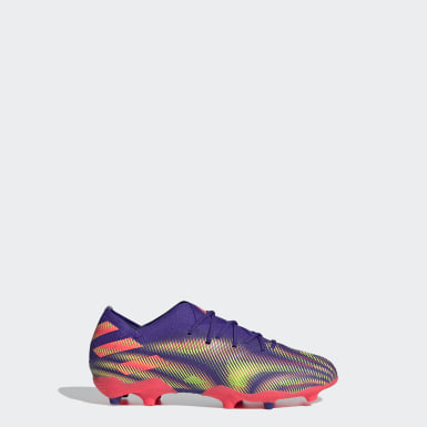 Barn Fotboll Lila Nemeziz .1 Firm Ground Boots