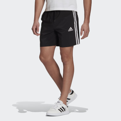 Men Sport Inspired Black AEROREADY Essentials Chelsea 3-Stripes Shorts