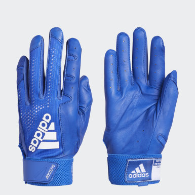 Baseball Blue Adizero 4.0 Batting Gloves
