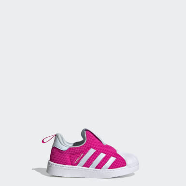 Infants Originals Pink Superstar 360 Shoes