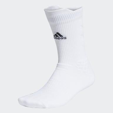 เทรนนิง สีขาว ถุงเท้าความยาวครึ่งแข้ง Alphaskin