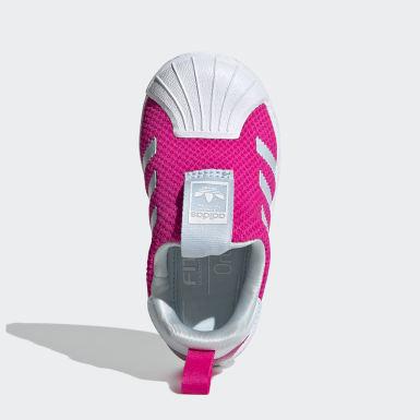 Sapatos Superstar 360 Rosa Raparigas Originals