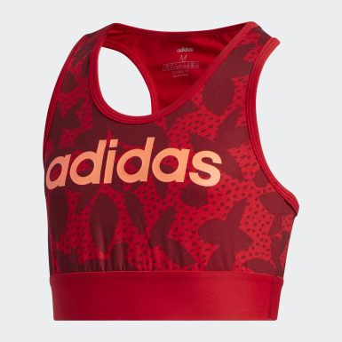Youth 8-16 Years Athletics Red XPR Sports Bra