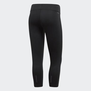 Women Training Black Designed 2 Move Climalite 3/4 Tights