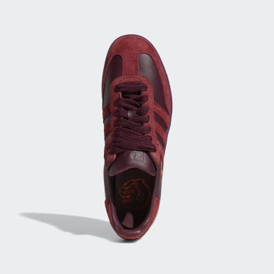 Men Originals Burgundy Jonah Hill Samba Shoes
