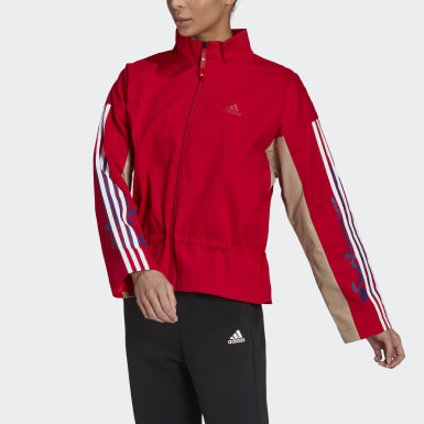 Women Athletics Red LNY Light Jacket