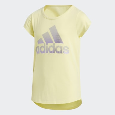 T-shirt Cap Sleeve jaune Enfants Entraînement