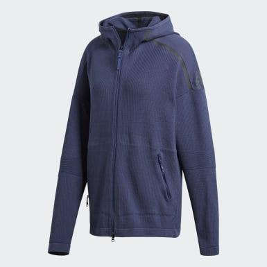 adidas Z.N.E. Primeknit hettejakke Blå