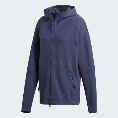 Women Athletics Blue adidas Z.N.E. Primeknit Hoodie