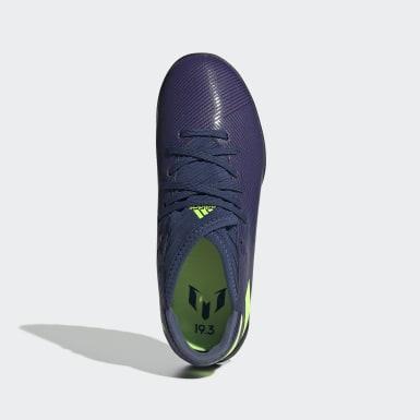Children Soccer Blue Nemeziz Messi 19.3 Turf Shoes