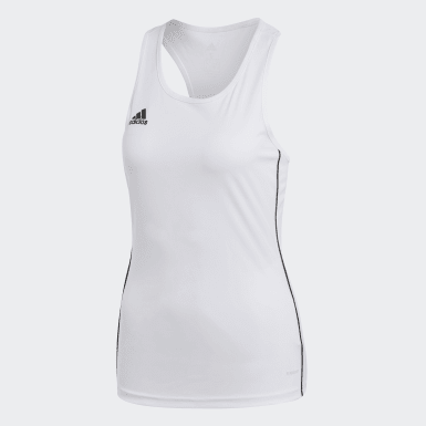 CORE18 TANK W Branco Mulher Futebol