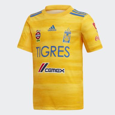 Mini Uniforme Titular Tigres UANL Niño Amarillo Niño Fútbol