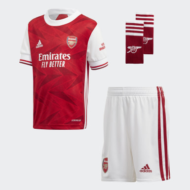 Barn Fotboll Burgundy Arsenal Home Mini Kit