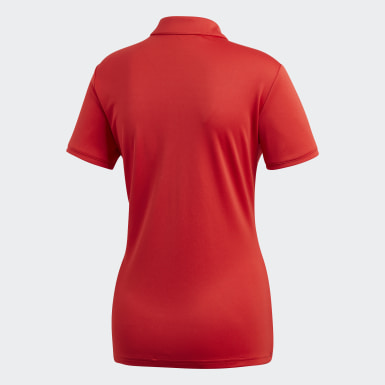 Women Golf Red Tournament Polo Shirt
