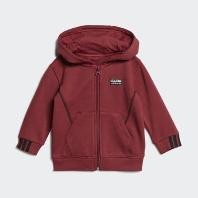 Kids Originals Red R.Y.V. Full-Zip Hoodie Set
