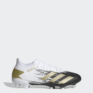 Football White Predator Mutator 20.3 Low Firm Ground Boots
