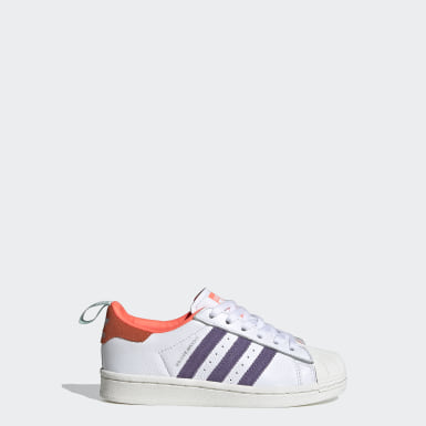 Kids Originals White Superstar Girls Are Awesome Shoes