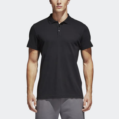 Camisa Polo Básica Essentials Preto Homem Training