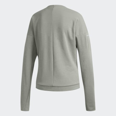 Women Running Grey Supernova Run Cru Sweatshirt