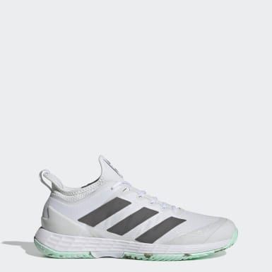 Men Tennis White Adizero Ubersonic 4 Parley Hard Court Tennis Shoes