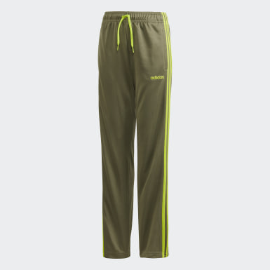 Kids 4-8 Years Training Green 3-Stripes Joggers
