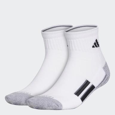 Men's Running White Climalite X 2.0 Quarter Socks 2 Pairs