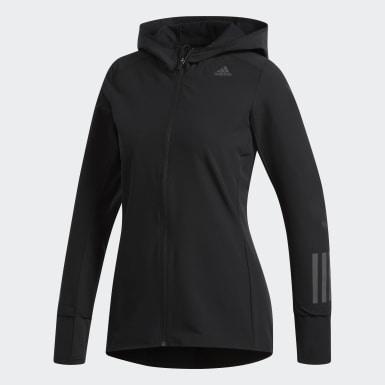 черный Куртка для бега Response