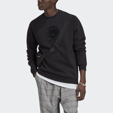 Sweat-shirt Collegiate Crest Crew Noir Hommes Originals