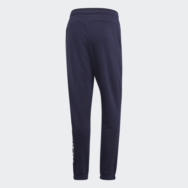 Men Athletics Blue Essentials Linear Tapered Pants