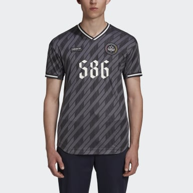 Men Originals Grey New Order x adidas SPZL Jersey