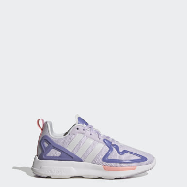 Youth 8-16 Years Originals Purple ZX 2K Flux Shoes