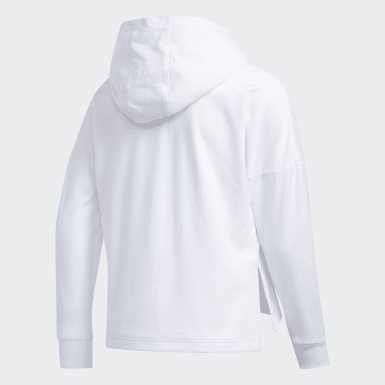 Youth Training White Badge of Sport Hoodie