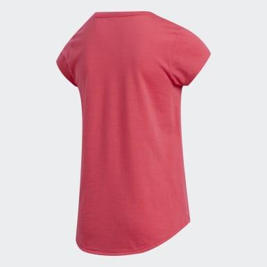 T-shirt Cap Sleeve rose Enfants Entraînement