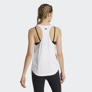 Canotta LOUNGEWEAR Essentials Loose Logo Bianco Donna Athletics