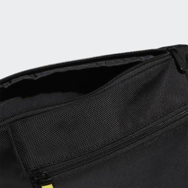 Sport Inspired Black Crossbody Bag