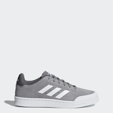 Women Sport Inspired Grey Court 70s Shoes