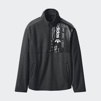 черный Флисовая толстовка adidas Originals by AW Half Zip