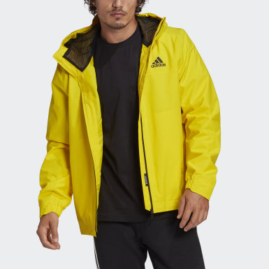 Men's Hiking Yellow BSC 3-Stripes RAIN.RDY Jacket
