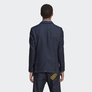 Heren Originals Blauw HM Denim Blazer